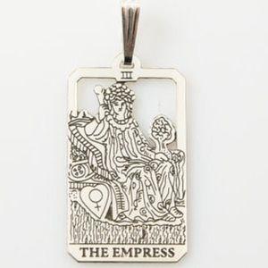 Empress Tarot Card pendant sterling silver small